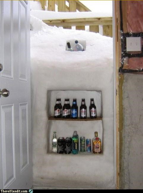 beer,home improvement,snow,winter