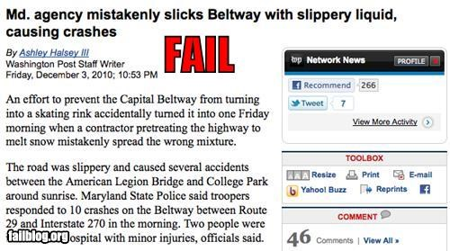 article,bad idea,failboat,g rated,highway,icy roads,prevention,safety,soap,traffic,winter