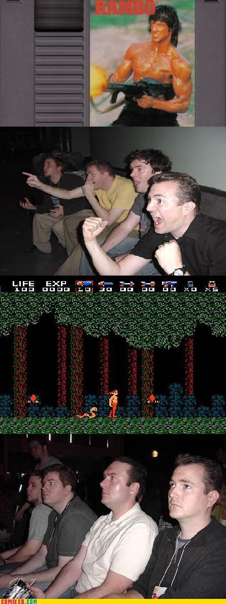 disappointment movie tie ins NES rambo reaction guys Videogames - 4240421120