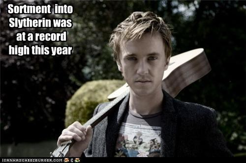 Sortment into Slytherin was at a record high this year