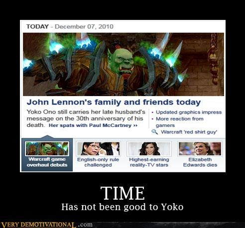 jk,john lennon,lol,news,world of warcraft,yoko ono