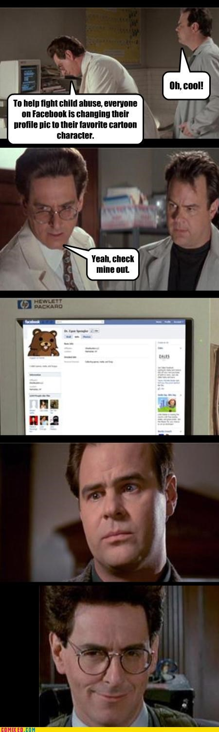 cartoons child abuse facebook Ghostbusters jk lol slacktivisim the internets - 4241537792