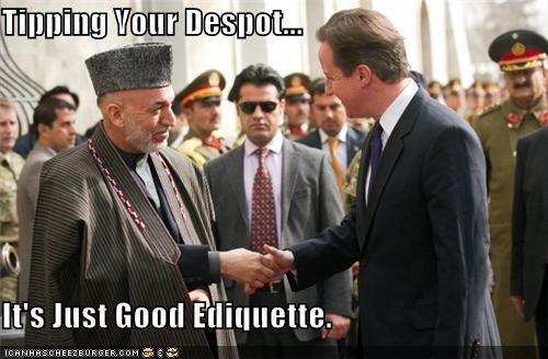 Tipping Your Despot... It's Just Good Ediquette.
