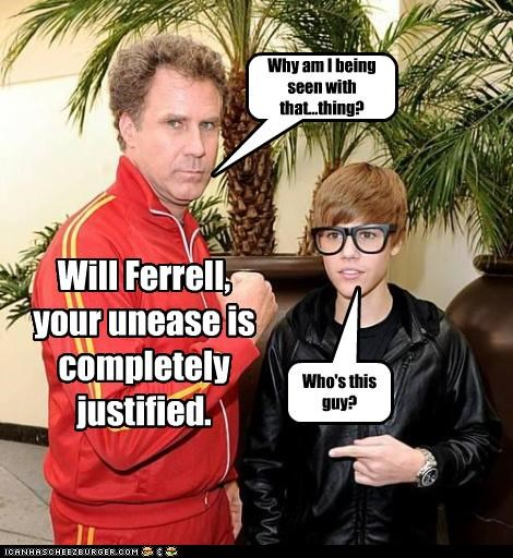Who's this guy? Why am I being seen with that...thing? Will Ferrell, your unease is completely justified.