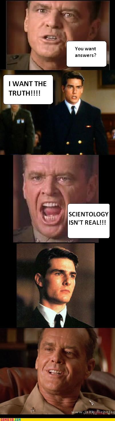 a few good men From the Movies jack nicholson law puns religion scientology Tom Cruise