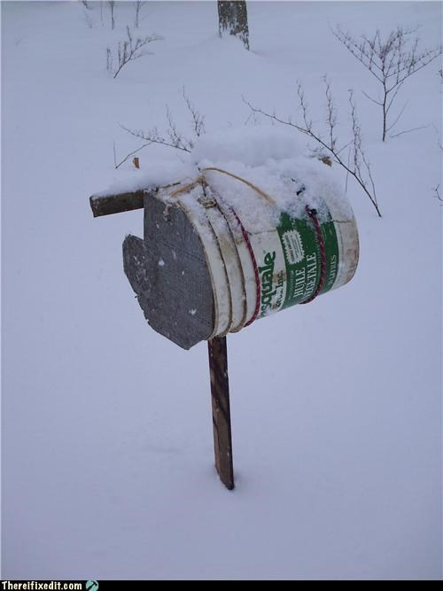 mailbox snow winter - 4241999104