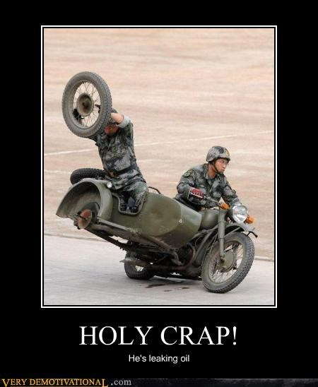 extreme holy crap motorcycle oil wtf