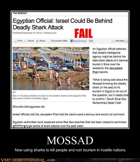 MOSSAD Now using sharks to kill people and ruin tourism in hostile nations.
