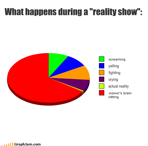 brain crying Pie Chart reality screaming television - 4242393600