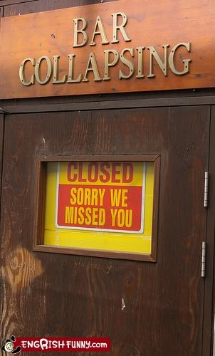 bar,closed,collapse