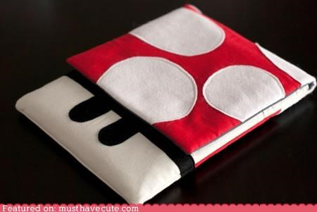 case ipad mario mushroom nerdy sleeve super mario prothers - 4242448896