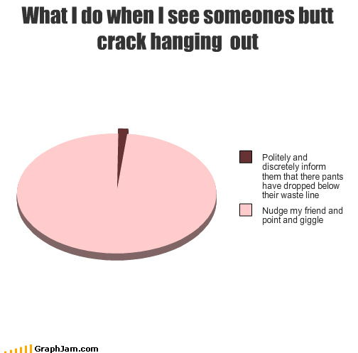 butt crack crack up out pants Pie Chart plumber - 4242661888