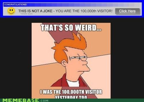 100000th visitor Ad fry futurama i see skepticism - 4243031808