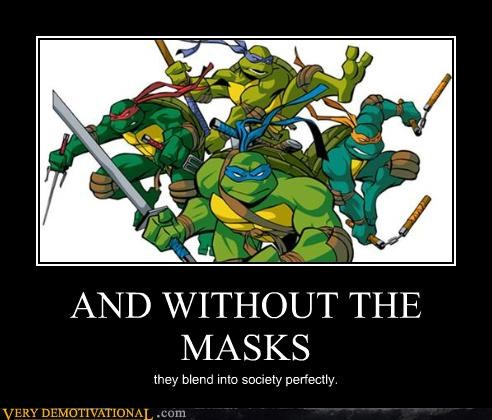 idiots ninjas stupid disguises teenage mutant ninja turtles TMNT