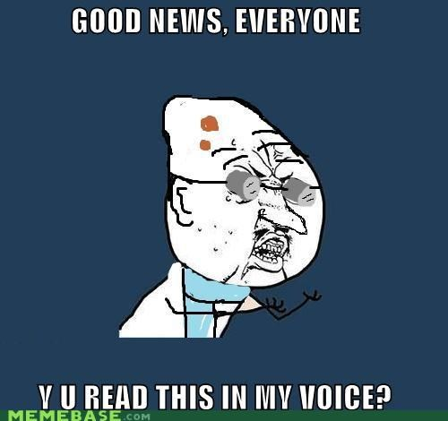 futurama,good news,professor-hubert-j-farnsworth,Y U No Guy