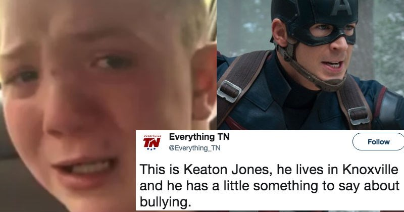 Chris Evans makes a heroic gesture to the kid in the viral bullying video.