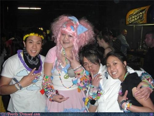 asian Party pink wig wtf - 4243774976