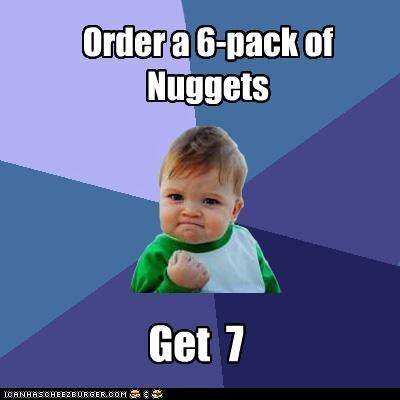 bonus nuggets success kid - 4243867904