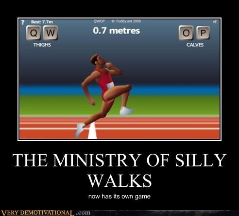 athletics monty python QWOP silly the internet video games