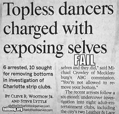arrested dancers exposure failboat irony newspaper strippers - 4245728768