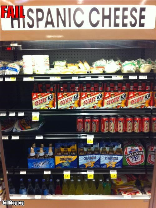beer cheese display failboat food g rated grocery store hispanic - 4245850368