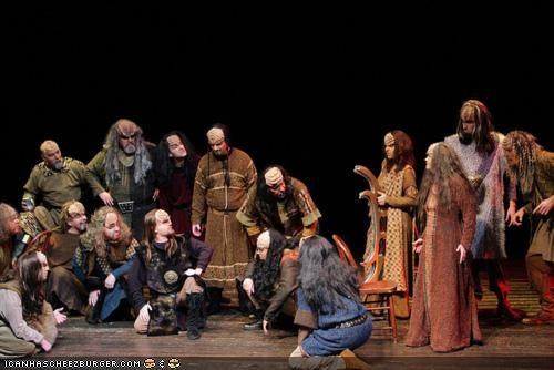 christmas carol funny holiday klingon play sci fi Star Trek - 4246223616
