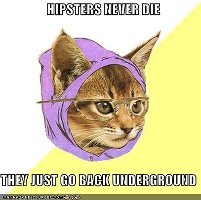 Hipster Kitty,hipsters,underground