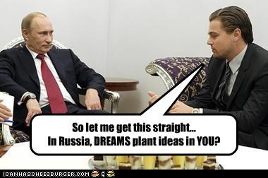 actor Inception leonardo dicaprio russia Vladimir Putin vladurday - 4247547904
