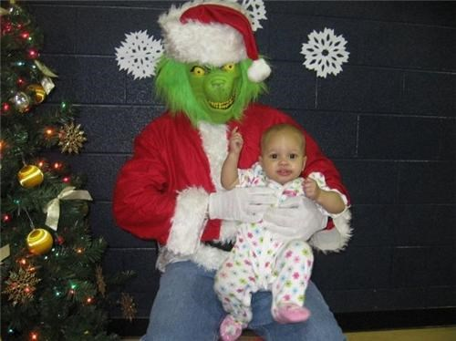 baby creepy grinch mask scary