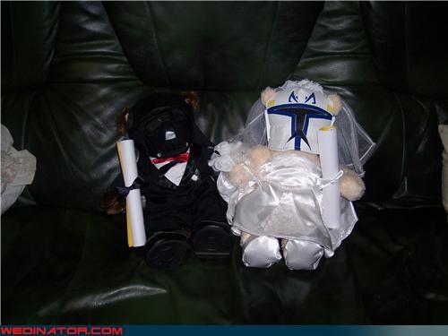 bride fashion is my passion funny wedding photos groom nerdy wedding gift rebel insignia cufflinks Star Wars themed bears star wars themed wedding Star Wars themed wedding gift surprise were-in-love Wedding Themes wtf - 4248109568