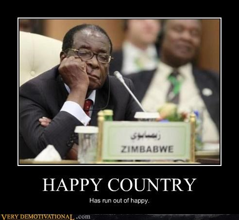 HAPPY COUNTRY Has run out of happy.