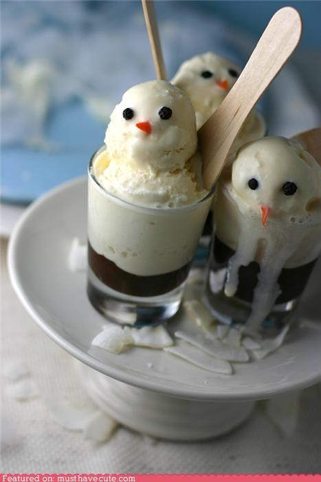chocolate,epicute,ice cream,snowmen,winter