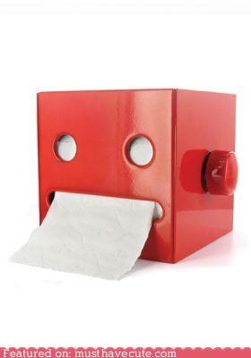 bathroom dispenser face mouth robot toilet paper TP - 4249136128