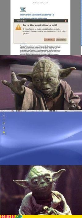 apples,mac,puns,star wars,the force,yoda
