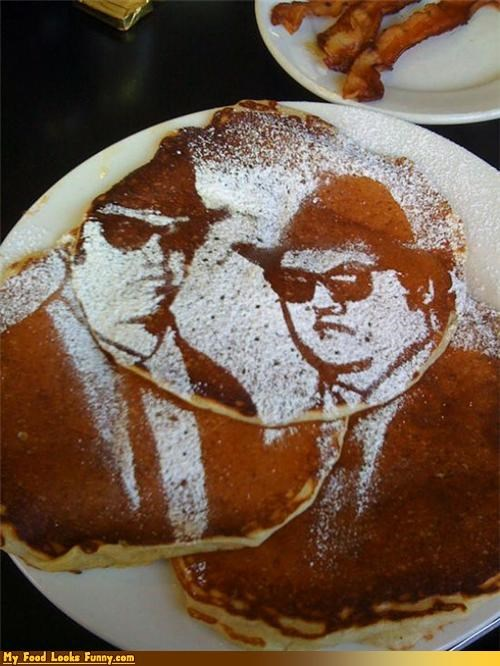blues blues brothers breakfast brothers movies pancakes powdered sugar sugar Sweet Treats