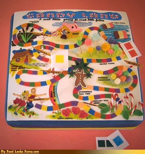 board games cake candy candy land candyland childrens-games games Sweet Treats - 4249624832