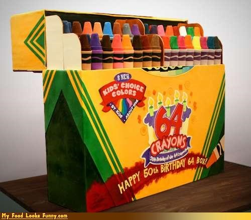 64 box cake colors crayola crayons Sweet Treats