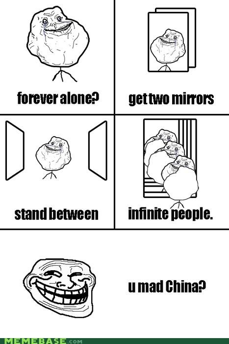 China comics infinite mirror recursion the man in the mirror troll troll science - 4249872128