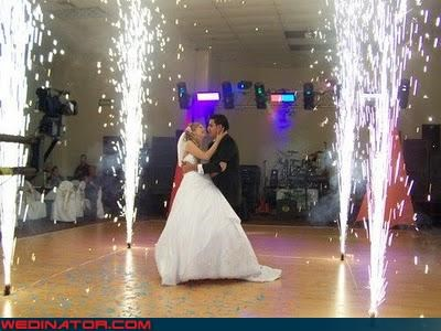 bride Crazy Brides crazy groom crazy wedding picture extreme sparklers funny wedding photos giant sparklers wedding surprise were-in-love wedding with sparks wtf - 4249996544