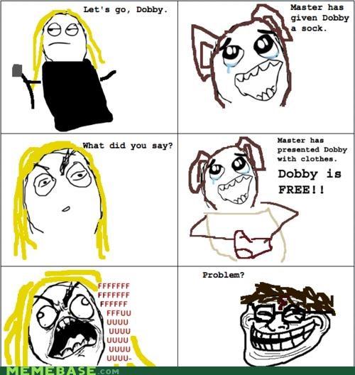 comics Dobby Harry Potter Hogwarts troll face - 4250128384