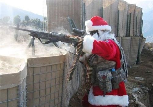 awesome,FTW,gun,santa