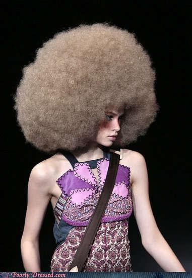70s afro dress fashion hair - 4251047680