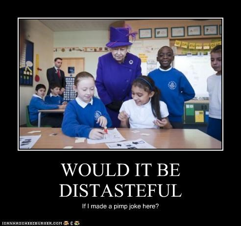 children,distasteful,pimp,purple,Queen Elizabeth II