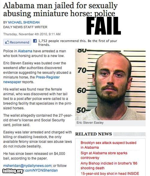 Mini-Horse FAIL Only in Alabama...
