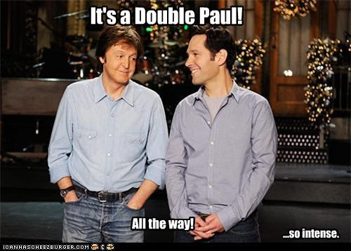actor celeb funny lolz Music paul mccartney paul rudd - 4252402944