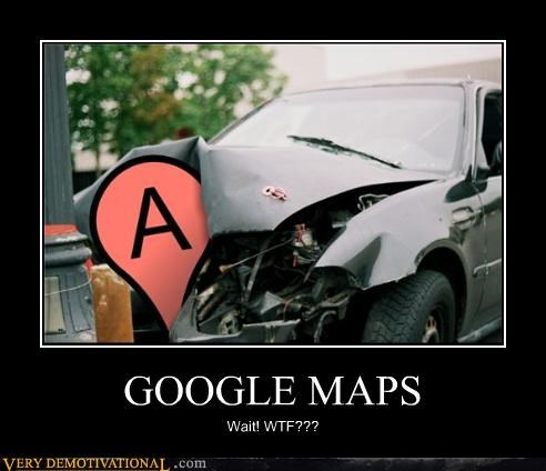 car crash cars google google maps skynet technology wtf - 4252430848