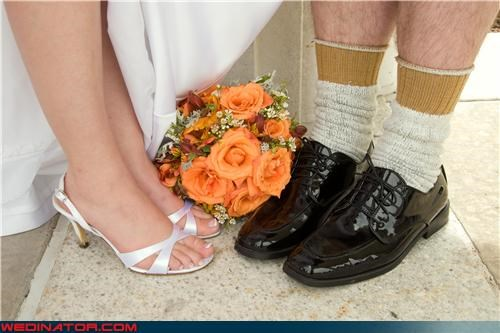 bride,bride-and-grooms-feet,fashion is my passion,funny groom picture,funny-grooms-socks,funny wedding feet picture,funny wedding photos,groom,grooms-socks,personality plus,surprise,were-in-love