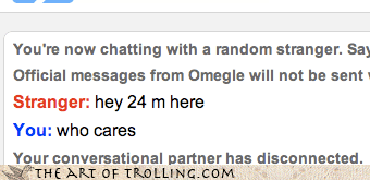 Omegle,who cares
