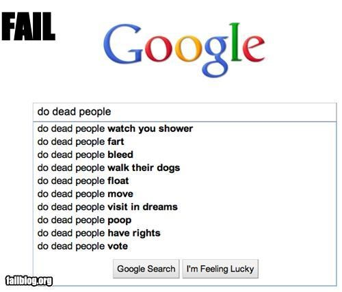 6th sense Autocomplete Me Dead People failboat google movies search shower - 4253602048