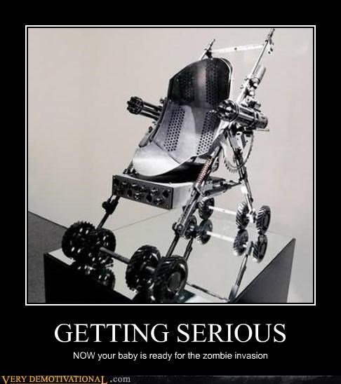 awesome being serious guns Hall of Fame invasion serious stroller zombie - 4253817344